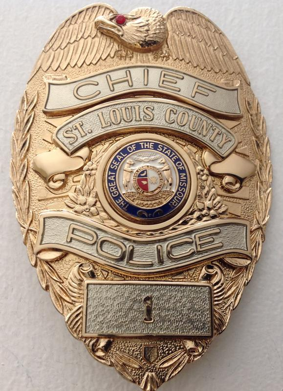 ST  LOUIS COUNTY MO  POLICE--LAW ENFORCEMENT MEMORABILIA